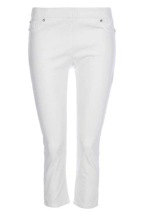 Plain Basic Jegging plain cropped jegging in white romanoriginals co uk