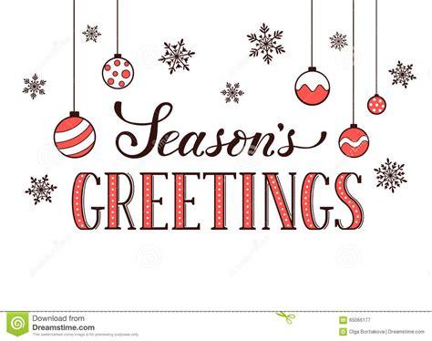 Season Greetings Cards Templates by Seasons Greetings Card Stock Vector Image Of