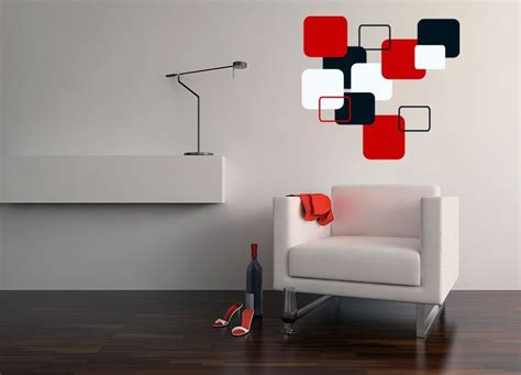 modern wall base red contemporary wall decal black white boxes sle l