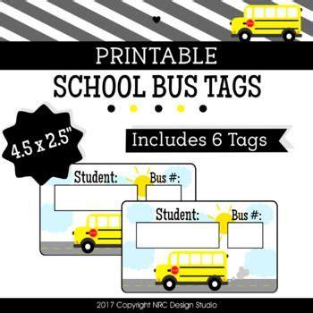 printable bus tags 26 best bus clip art images on pinterest school buses