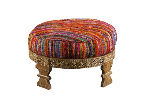 colored ottomans surya multi color ottoman at gardner white