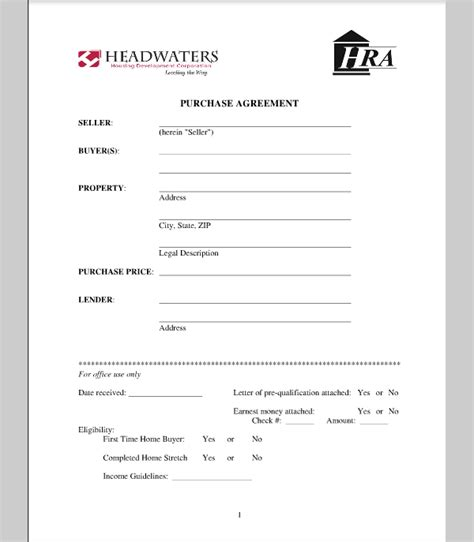 contract to buy a house template purchase template for house agreement sle of house