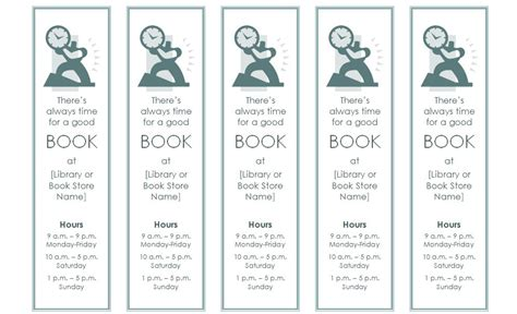 search results for free blank bookmark templates word