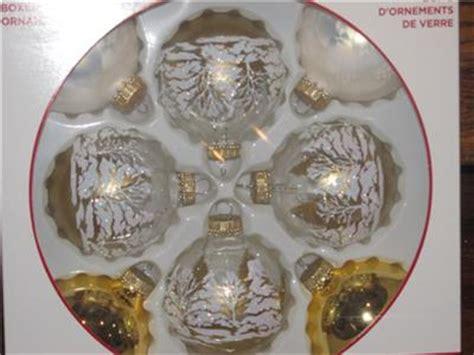 new celebrate it white gold glitter trees glass ball