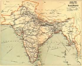 early railway maps of india