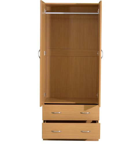 Wardrobes With Drawers by Buy Narahiko Two Door Wardrobe With Two Drawers In Beech