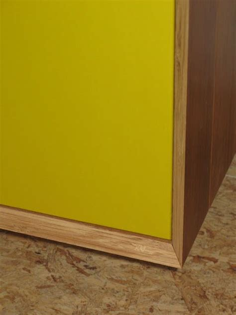 suspended wall cabinet ivar ikea hackers framed with bamboo flooring and paint in a