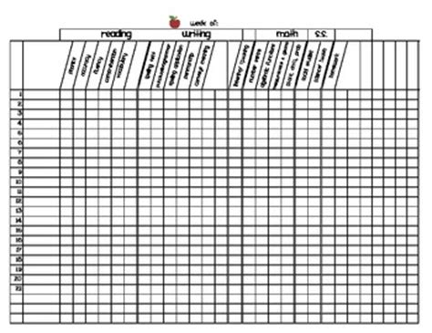 First Grade Grading Sheet Master Template By Christine Statzel Tpt Grade Sheet Template
