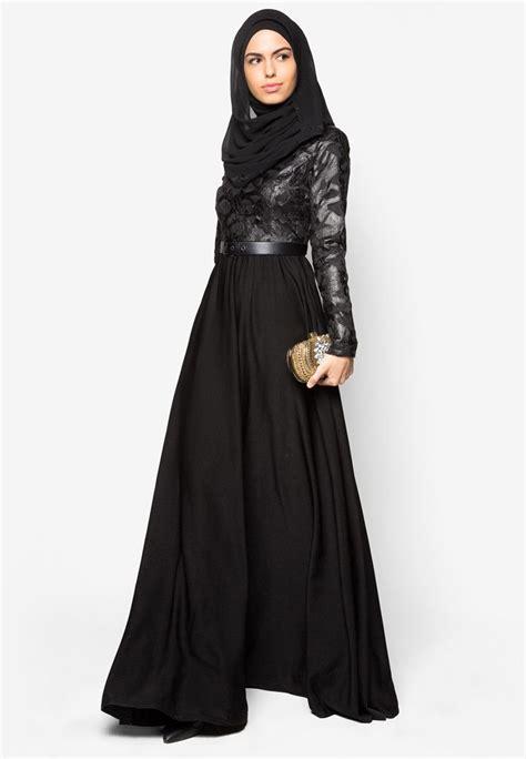Lace Pieced Kaftan Zalia buy zalia embroidered pu pieced maxi dress zalora