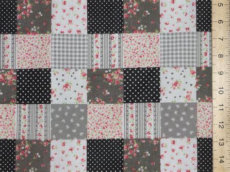 Patchwork Fabric Uk - patchwork polycotton fabric p c black