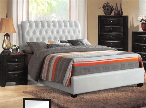 ireland bedroom  acme wwhite upholstered bed options