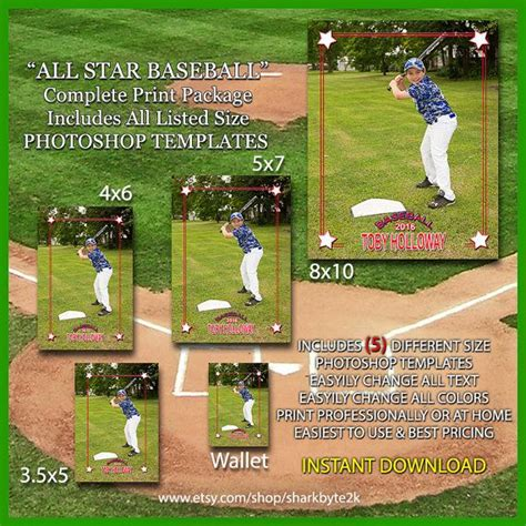 17 Best Images About Baseball Card Templates On Pinterest Miniature Memories And Baseball Cards Baseball Photo Templates Photoshop