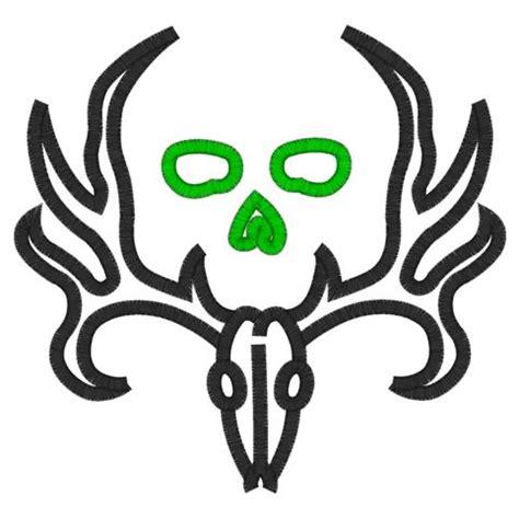 deer skull stencil clipart best