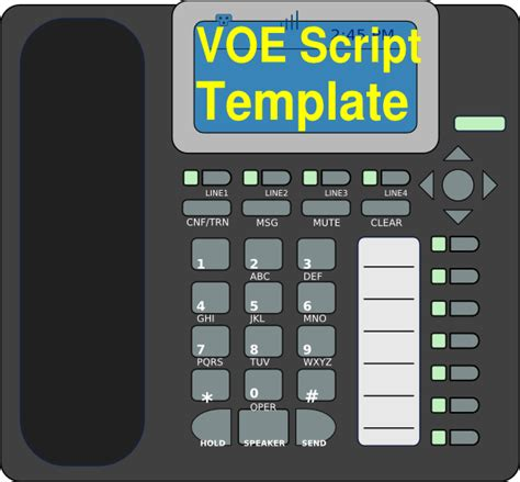 voe template voe script template clip at clker vector clip