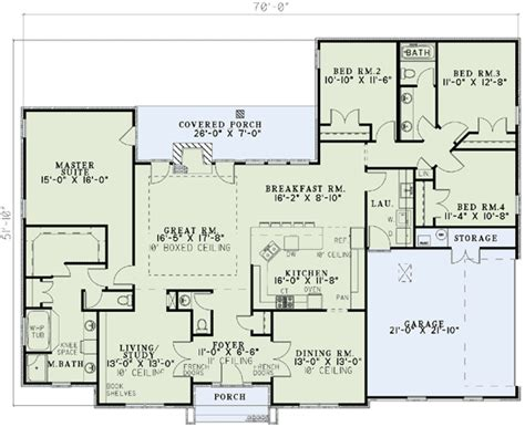 4 bedroom ranch floor plans 4 bedroom ranch house plans plan w59068nd neo