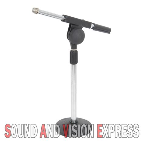 microphone desk stand qtx sound mic microphone desk stand with adjustable boom
