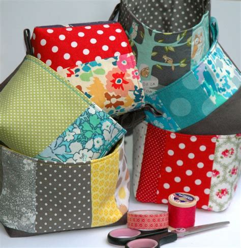 Patchwork Basket - 17 best images about sew storage on tote purse