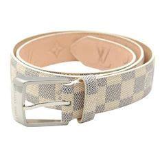 Belt Lv Damier Black Logo Silver Quality Import Keren Murah Baru belt on 37 pins