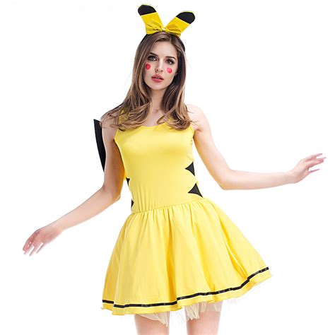 party themes adults dress up adult ladies pokemon pikachu cosplay fantasias costumes