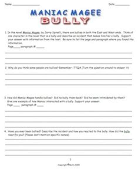 Maniac Magee Worksheets by Maniac Magee On Jerry O Connell Figurative