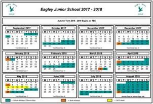 2018 Calendar With School Holidays Dates Eagley Junior School