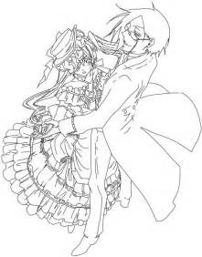 coloring page of black butler ceil pages sketch template