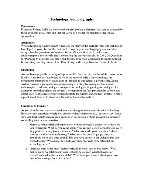 autobiography essay template best photos of template of biography personal biography