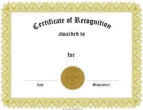 How to customize a certificate of recognition template