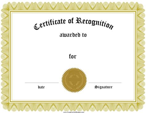 certificate maker templates certificate of recognition template best business template