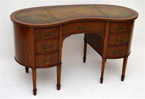 antique kidney shaped desk antique edwardian mahogany kidney shaped desk antiques atlas