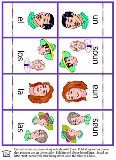 free printable spanish flashcards for toddlers free spanish articles activity set printable spanish