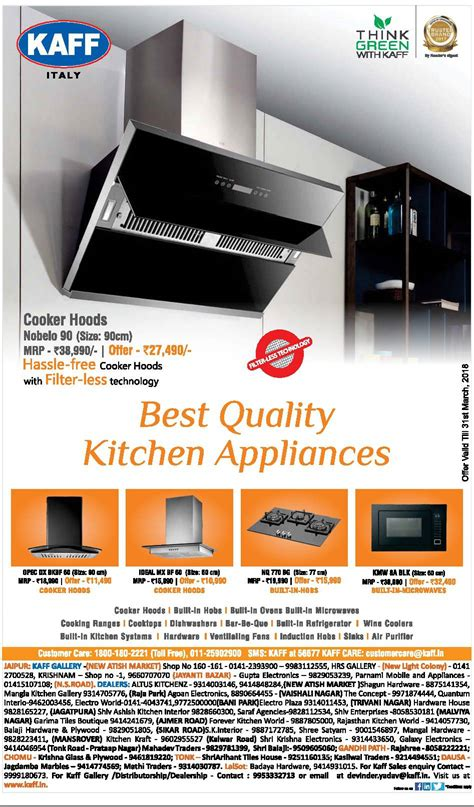 best quality kitchen appliances kaff kitchen appliances advertisement in newspaper