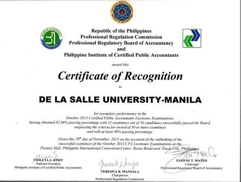 De La Salle University : Accountancy Department