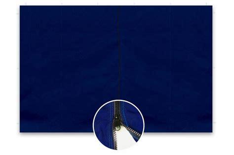 pavillon seitenteile mit reißverschluss 2 seitenteile f 252 r profi falt pavillon 3x3m blau pe naila