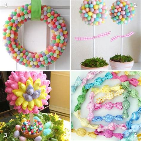 diy easter candy decorations candy crafts easter decor