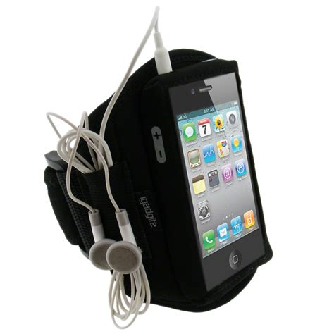 Sports Armband 46cm For Iphone 4 4s igadgitz black water resistant neoprene sports armband for apple iphone 4 hd 4s