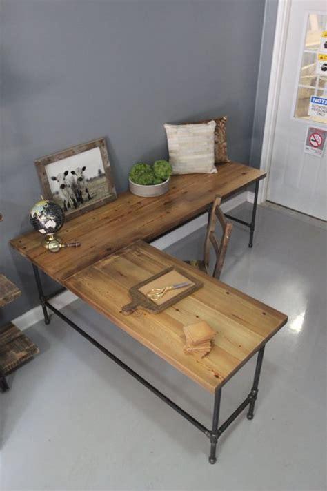 reclaimed wood l shaped desk industrial l shaped desk wood desk pipe desk reclaimed by