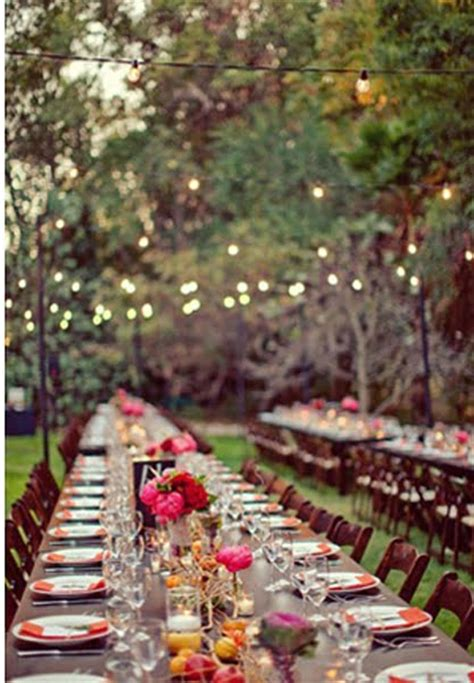 Garden Reception Ideas Languid Lovely Backyard Wedding