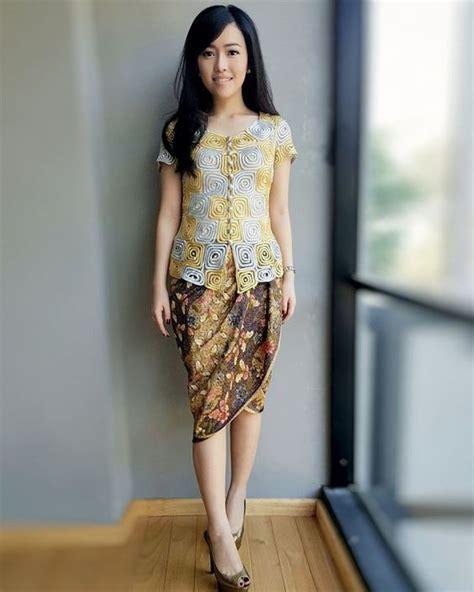 Atasan Alnita 52 model baju batik atasan wanita kerja panjang pendek