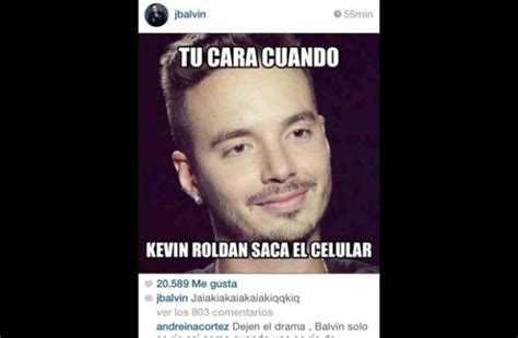 imagenes de kevin roldan con mensajes j balvin y kevin roldan hicieron guerra de memes luego del