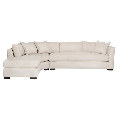 linen sectional adair ivory linen 2 piece sectional down sofa left arm