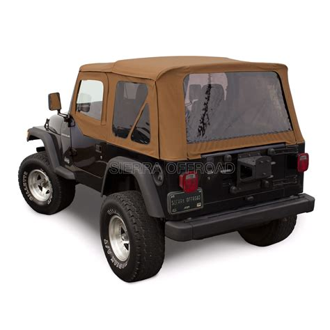 Jeep Soft Top Hardware Jeep Wrangler Tj Soft Top 1997 2002 Tinted Windows