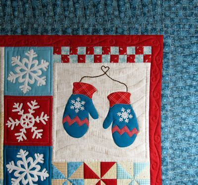 closeup quot the blessings of winter quot design by shabby fabrics customer quilt quilted by jan