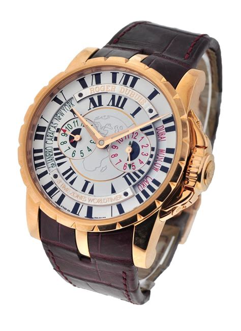 Roger Dubuis Excalibur World Time Silver ex45 1448 50 00 01r14 b roger dubuis excalibur 45mm gold essential watches