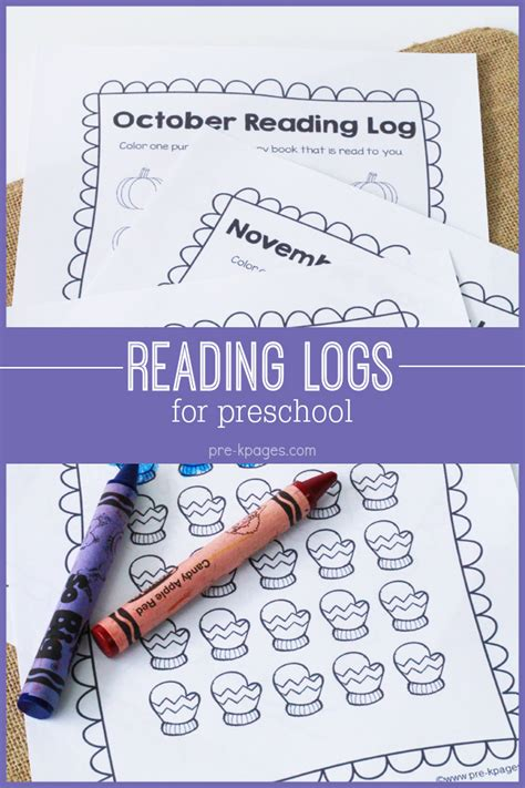 printable pre k reading log printable reading logs for preschool and kindergarten