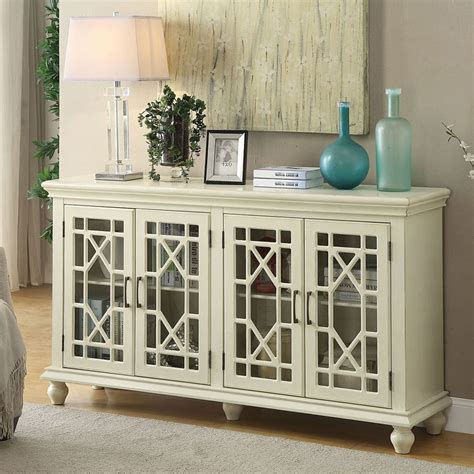 lattice doors accent cabinet antique white accent chests  cabinets occasional