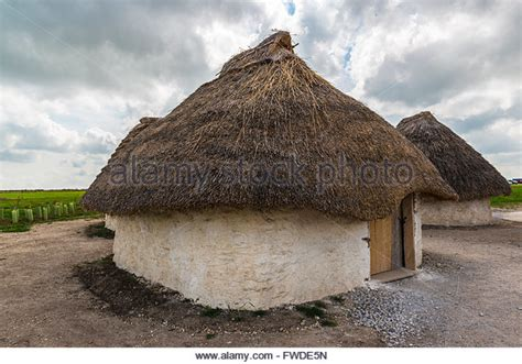 neolithic houses straw houses stock photos straw houses stock images alamy