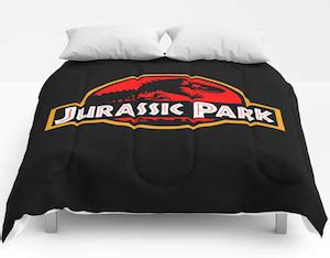 jurassic park bedding jurassic park logo comforter so you can sleep with the