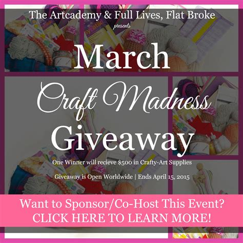 March Madness Sweepstakes - march craft madness giveaway avatar1 carmen whitehead designs