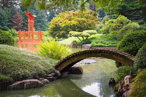 garden footbridge japanese garden footbridge over the pond gary heller
